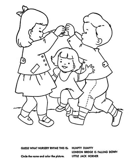 Nursery Rhyme Coloring Pages Bestofcoloring Com Rhyming Coloring Pages