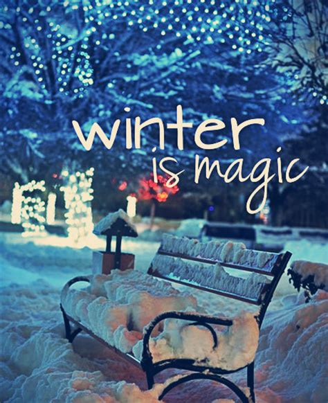 winter magic winter magic quotes quotesgram