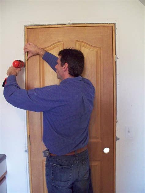 how to hang a interior door ez hang door installation brackets install interior