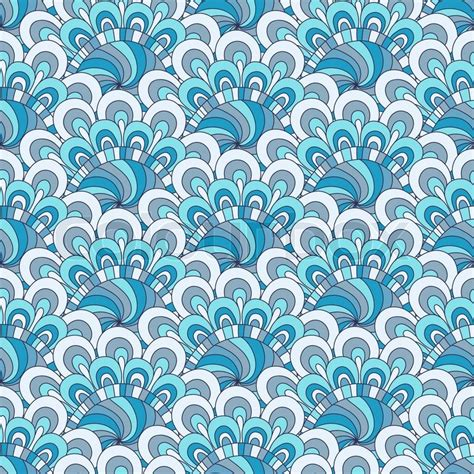 white pattern on blue white blue gray seamless pattern vector colourbox