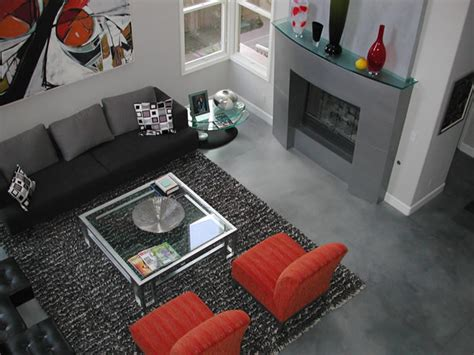 concrete living room floor family room floor pictures photos and ideas for living