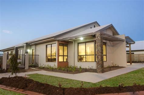 coombs display house to feature on australia s best houses front facade house design with feature stone tile pillars