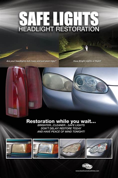 Headlight Restoration Business Cards auto cosmetics mobile tech products safe lights