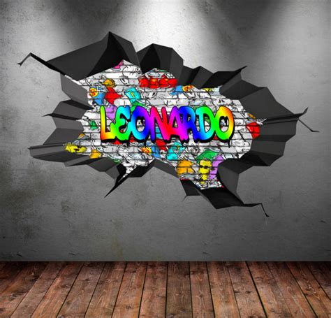personalized  full color graffiti wall decals