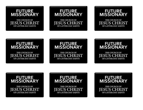 printable lds missionary name tags it works for bobbi i want to be a missionary now free