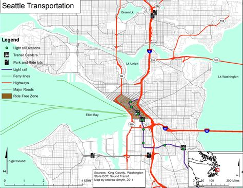 seattle map transportation smyth assignment 2 introduction to gis for and