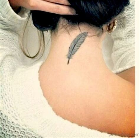 feather tattoo back of neck 60 appealing feather tattoos on neck
