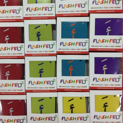 187 flash felt hijaiyah fathah colourful