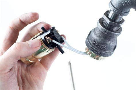 black pipe light socket diy industrial l cool desk l made from pipe