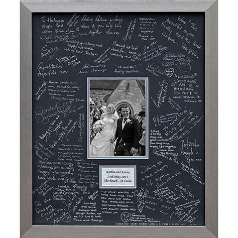 picture frame guest book ideas 17 best ideas about personalised wedding guest book on