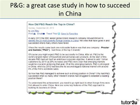 Succeeding In China china opportunities threats success and failure