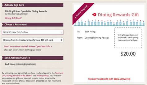 opentable rewards swaps paper certificates for gift cards