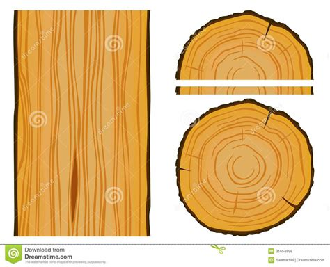 pattern vector illustrator wood timber and wood texture with elements royalty free stock