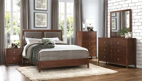 Homelegance Bedroom Set by Homelegance Cullen Bedroom Set Brown Cherry 1855 Bedroom