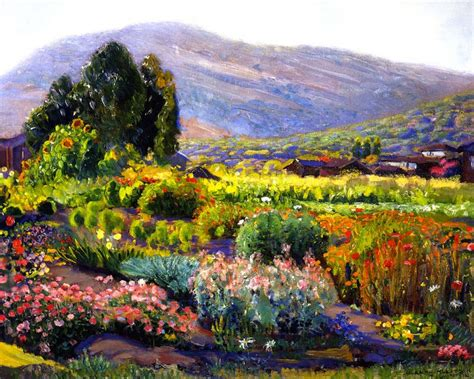 Flower Garden Painting The Flower Garden In Laguna By Joseph Kleitsch Painting Id La 2764 Ka