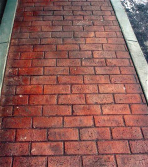 overlay brick running bond matcrete decorative concrete