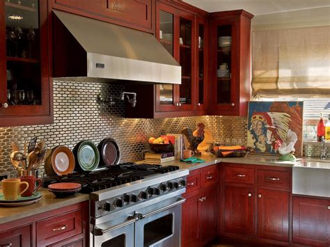 red kitchen paint ideas small kitchen decorating ideas pictures amp tips from hgtv