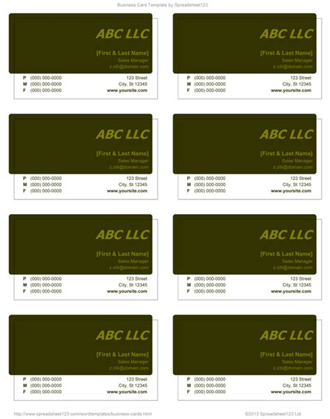 business card templates word business card templates for word