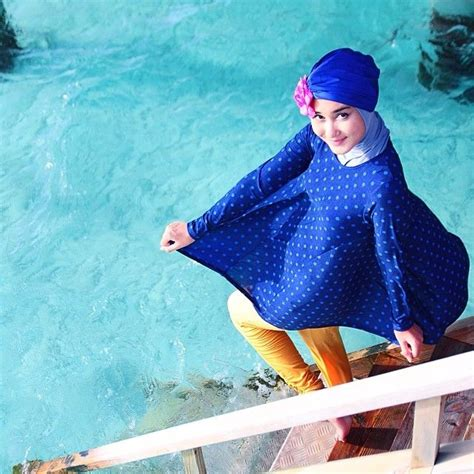 tutorial hijab renang inspirasi baju renang dian pelangi h i j a b e r dian