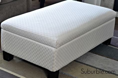 how to recover a storage ottoman the no sew way to recover an ottoman