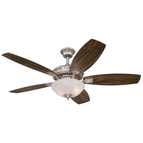Ceiling Fans Tulsa by Westinghouse Tulsa Led 52 In Led Brushed Nickel Ceiling