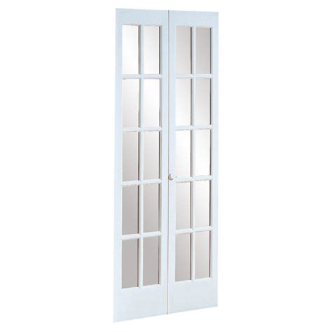 36 Inch Bifold Closet Doors 527 Traditional Divided Glass 36 X 80 5 Inch Prefinished White Bifold Door By Ltl Home Products