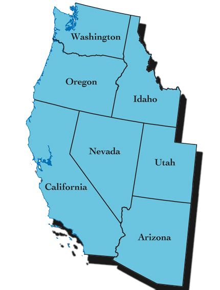 western us map western us the water issues