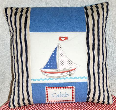 tuppenny house designs small boat cushion by tuppenny house designs notonthehighstreet com