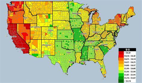 gas prices map usa rising gas prices chart ronieronggo
