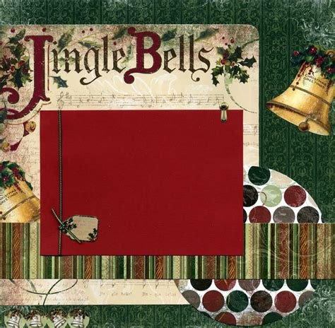scrapbook layout ideas for christmas susan s scrapbook shack jingle bells 12x12 premade