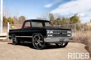 black 1984 chevrolet c10 with interior cars i