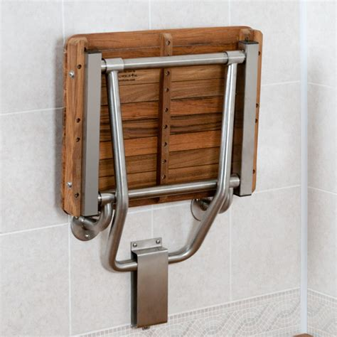 handicap shower bench teak ada compliant wall mount shower bench