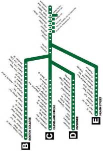 Mbta Green Line Map by Complete Green Line Map Free Universal Hub
