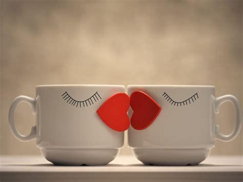 wallpaper kiss lips love hearts coffee mugs  love