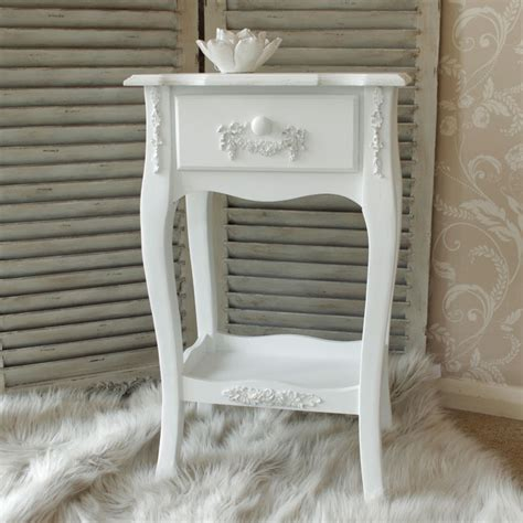 Shabby Chic Bedroom Ebay antique white 1 drawer bedside l table shabby