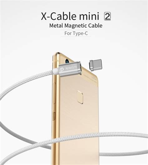 Kabel Data Magnetic Cable 2 In 1 Type C Micro wsken x cable mini 2 premium a grade metal magnetische kabel type c