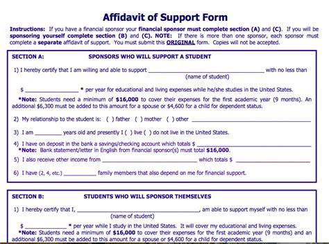 Sle Affidavit Of Support Letter For Visitor Visa affidavit of support sle letter for tourist visa canada