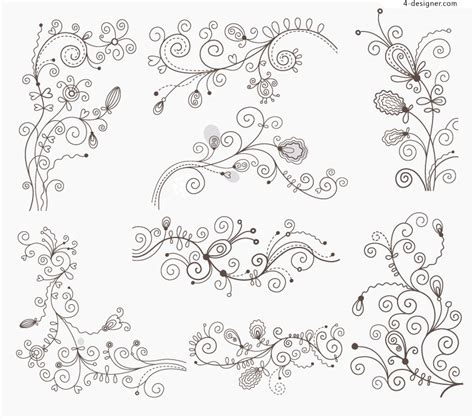 art review pattern and decoration 4 designer black decorative pattern design vector material