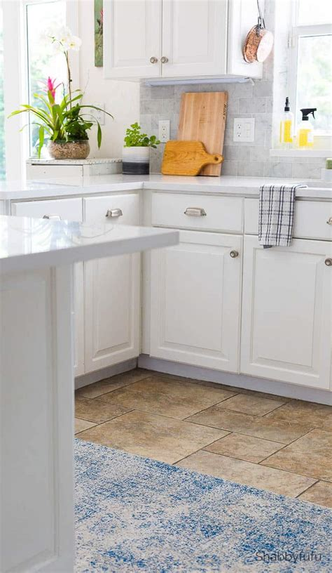 carrara marble tile backsplash kitchen reveal