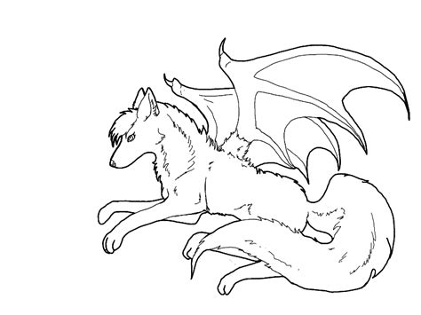 Winged Wolf Coloring Pages winged wolf coloring pages
