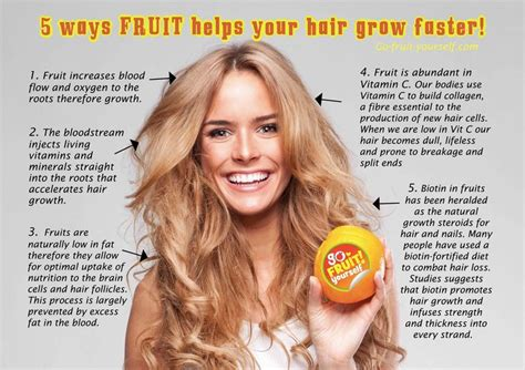 how to make your hair grow faster 5 ways fruit helps your hair grow faster hair