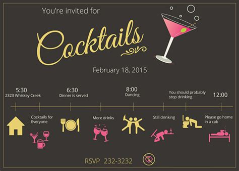 cocktail invitation cards templates 17 stunning cocktail invitation templates designs