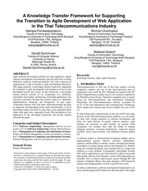application design journal publication a knowledge transfer framework for pdf download available
