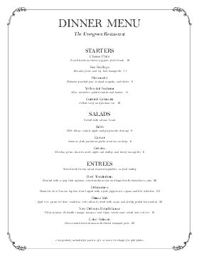 tasting menu menu templates musthavemenus 34 found