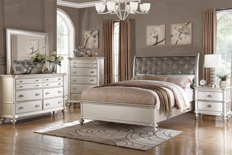 pc bedroom set  silver tone  boss woptions