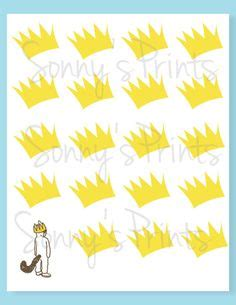 printable max crown cannon found the wild things on pinterest nurseries
