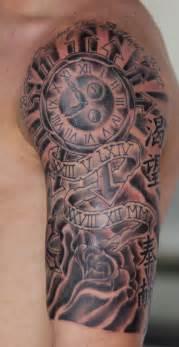 clock irish st tattoo