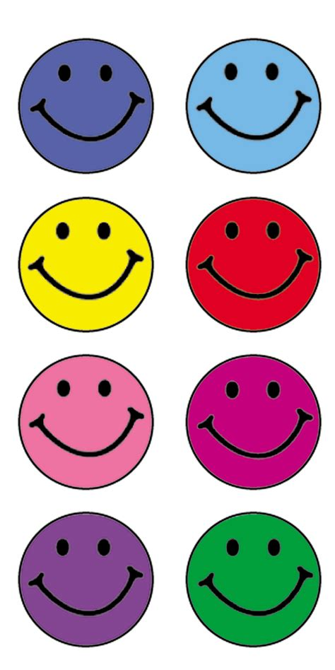 Printable Smiley Stickers | happy faces mini stickers tcr1236 teacher created