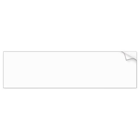bumper sticker templates blank white sign car bumper sticker zazzle