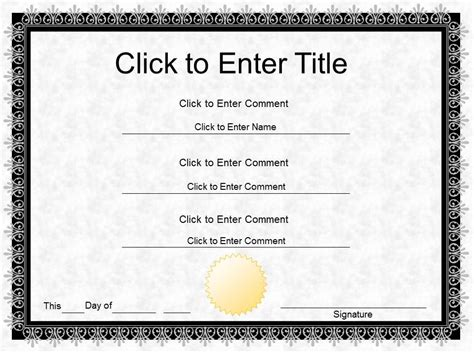 Completion Certificate Template Certificate Templates Diploma Template Word